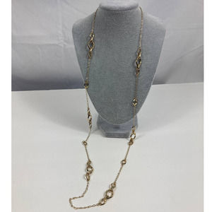 NWT Anne Klein long gold chain necklace